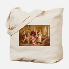 Betsy Ross Designing The Tea Party Flag Tote Bag