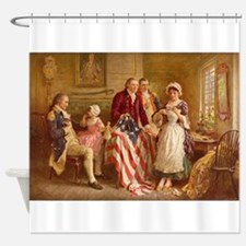 Betsy Ross Designing The Tea Party Flag Shower Cur