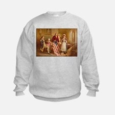 Betsy Ross Designing The Tea Party Flag Sweatshirt