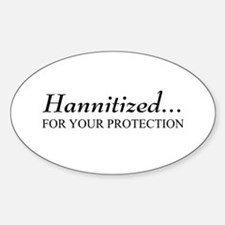 Hannitized Oval Decal