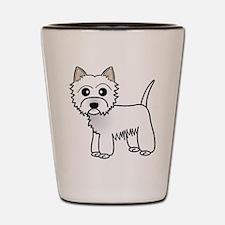 Cute Westie Dog Shot Glass