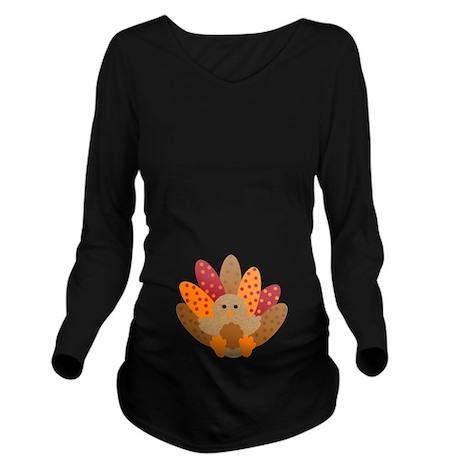 Precious Baby Turkey Long Sleeve Maternity T-Shirt