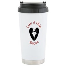Luv A Chin Logo Travel Coffee Mug
