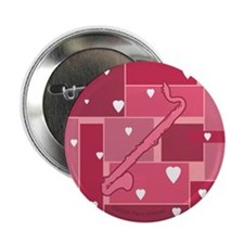 """Bass Clarinet Hearts - 2.25"""" Button (10 pack)"""