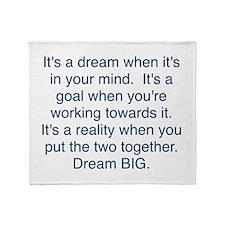 Dream + Goal = Reality Throw Blanket