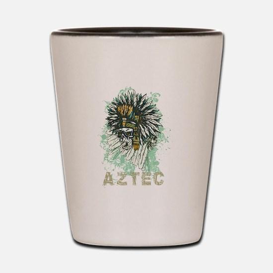 Aztec Warrior Skull Shot Glass