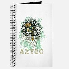 Aztec Warrior Skull Journal