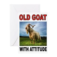 OLD GOAT Greeting Cards