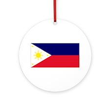 Flag Philippines Ornament (Round)