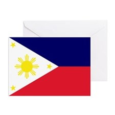 Flag Philippines Greeting Cards (Pk of 10)