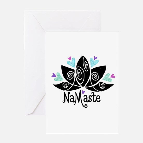 Namaste Lotus Color Greeting Cards