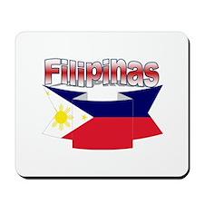 Philippines flag ribbon Mousepad