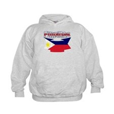 Philippines flag ribbon Hoody