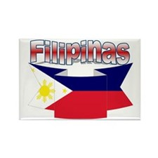 Philippines flag ribbon Rectangle Magnet
