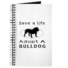 Adopt A Bulldog Dog Journal