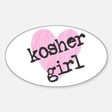 Kosher Girl Oval Decal