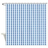 Blue plaid Shower Curtains