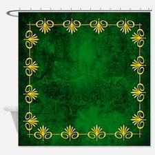 Emerald Jewel Tones Shower Curtain