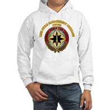Life Cycle Mgmt Cmd - CECOM with Text Hoodie