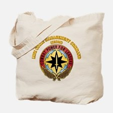 Life Cycle Mgmt Cmd - CECOM with Text Tote Bag