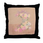 Country Urn Bouquet Throw Pillow