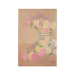 Country Urn Bouquet Rectangle Magnet (100 pack)