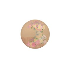 Country Urn Bouquet Mini Button (100 pack)