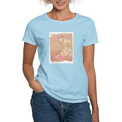 Country Urn Bouquet Women's Pink T-Shirt