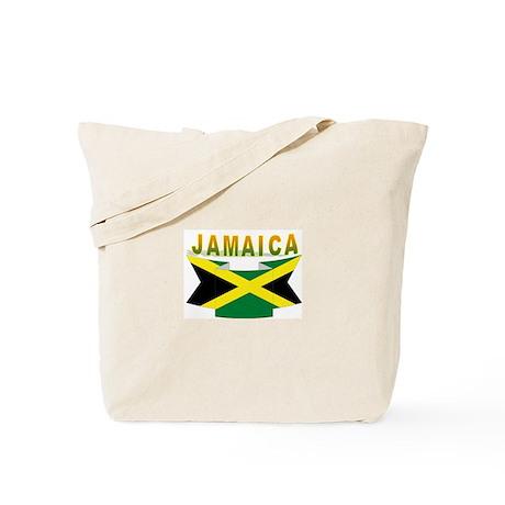 Jamaica flag ribbon Tote Bag