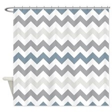 Sea Squall Chevron Pattern Shower Curtain