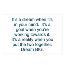 Dream + Goal = Reality Postcards (Package of 8)