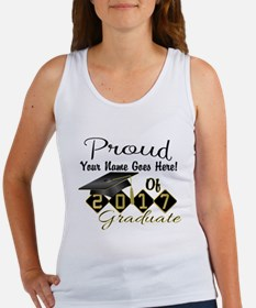 Proud 2017 Graduate Black Tank Top