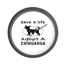 Adopt A Chihuahua Dog Wall Clock