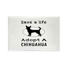 Adopt A Chihuahua Dog Rectangle Magnet