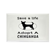 Adopt A Chihuahua Dog Rectangle Magnet (10 pack)