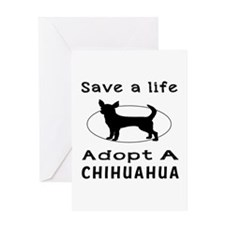 Adopt A Chihuahua Dog Greeting Card