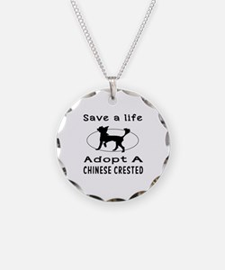 Adopt A Chinese Crested Dog Necklace
