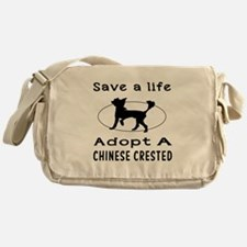 Adopt A Chinese Crested Dog Messenger Bag