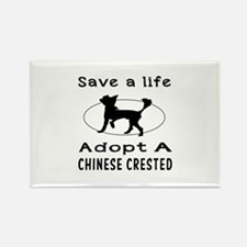 Adopt A Chinese Crested Dog Rectangle Magnet (10 p
