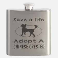 Adopt A Chinese Crested Dog Flask