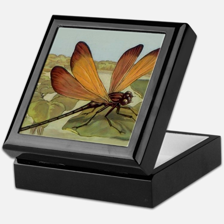 Art Deco Dragonfly Keepsake Box