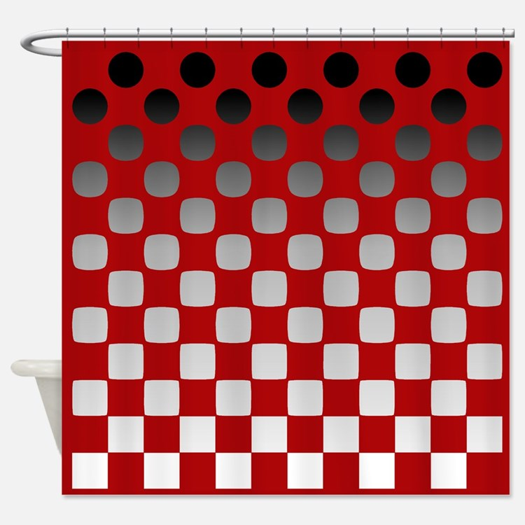 Red and white shower curtains black red and white fabric shower