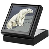 Polar bear keepsake box Square Keepsake Boxes