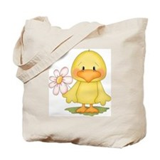 Chicken with flower Tote Bag