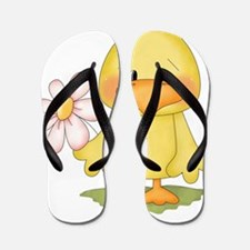 Chicken with flower Flip Flops