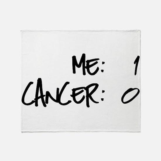 Cancer Survivor Humor Throw Blanket
