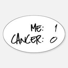 Cancer Survivor Humor Sticker (Oval)