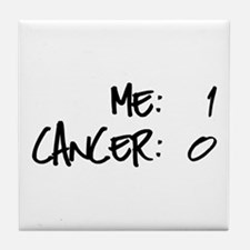 Cancer Survivor Humor Tile Coaster