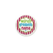 World's greatest nana Mini Button