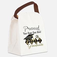 Proud 2017 Graduate Black Canvas Lunch Bag